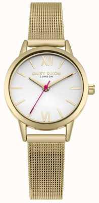 Daisy Dixon Viviamo cinturino in maglia oro bianco moda quadrante DD069GM
