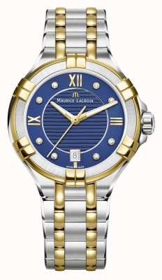 Maurice Lacroix Quadrante blu acciaio inox bicolore a due toni 35mm AI1006-PVY13-450-1