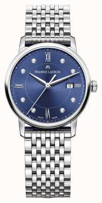 Maurice Lacroix Quadrante blu eliros in acciaio inox da donna EL1094-SS002-450-1