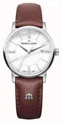 Maurice Lacroix Bracciale da donna in eliros marrone con cinturino in argento EL1094-SS001-110-1