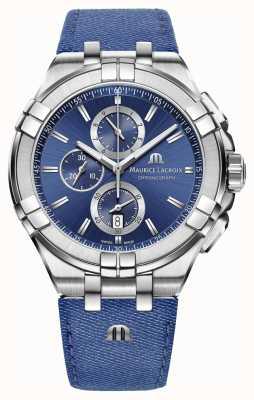 Maurice Lacroix Cinturino cronografo uomo denim look crono AI1018-SS001-431-1