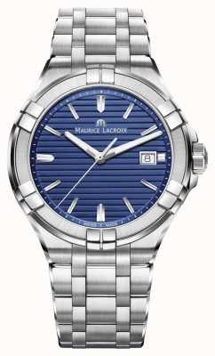 Maurice Lacroix Quadrante blu bracciale in acciaio inossidabile Aikon AI1008-SS002-431-1