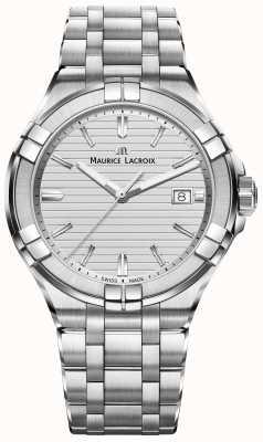 Maurice Lacroix Quadrante argentato in acciaio inox aikon Mens AI1008-SS002-131-1
