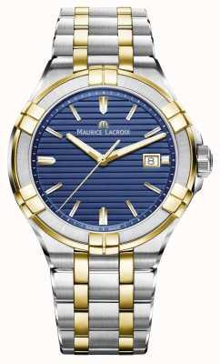 Maurice Lacroix Mens a due toni quadrante blu acciaio inox AI1008-PVY13-433-1