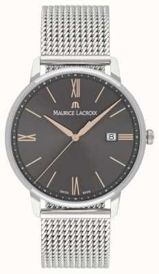 Maurice Lacroix Mens eliros maglia bracciale quadrante nero accenti d'oro EL1118-SS002-311-1