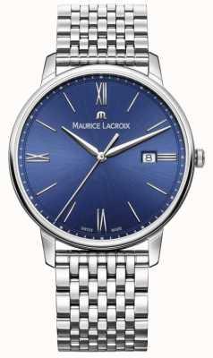 Maurice Lacroix Bracciale Eliros da uomo in acciaio inossidabile con quadrante blu EL1118-SS002-410-2