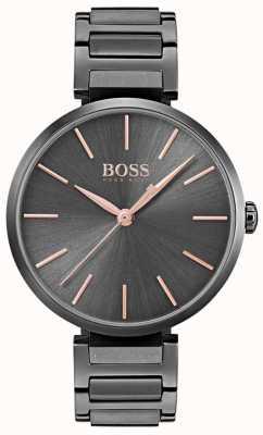 Boss Orologio da donna con allure in acciaio placcato in ferro nero 1502416