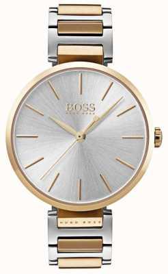 Boss Allusione delle donne orologio in acciaio bicolore 1502417