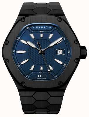 Dietrich Quadrante blu automatico pvd nero automatico TC-1 PVD BLUE
