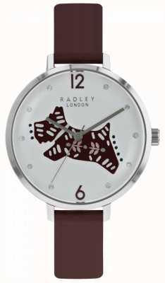 Radley Cinturino in pelle di vitello a quadrante argentato con cinturino in argento RY2581