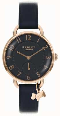 Radley Womens southwark park watch cinturino in pelle nera RY2548