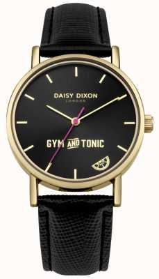 Daisy Dixon Quadrante nero con cinturino in pelle nera e cinturino in pelle nera DD079BG