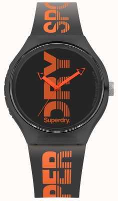 Superdry Quadrante nero con cinturino in silicone nero urbano SYG189BO