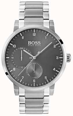 Boss Quadrante sunray per bracciale in acciaio inossidabile con quadrante grigio ossigeno 1513596