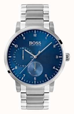 Hugo Boss Orologio da polso da uomo in acciaio inossidabile con quadrante blu 1513597
