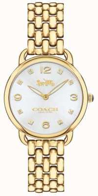 Coach Quadrante argentato da donna con sottile quadrante color oro 14502782