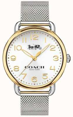 Coach Cassa in oro con cinturino in maglia di acciaio inossidabile delancey da donna 14502802