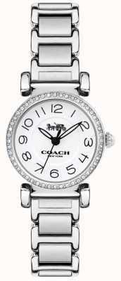 Coach Quadrante bianco con cinturino in acciaio orologio da donna madison 14502851