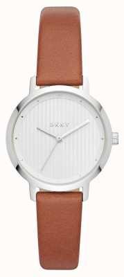 DKNY Womens the modernist watch cinturino in pelle marrone NY2676