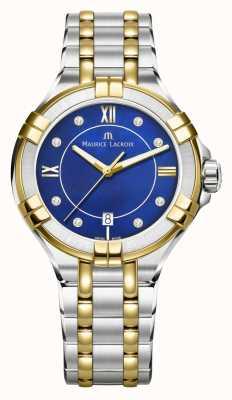 Maurice Lacroix Womens aikon 35mm bicolore acciaio inossidabile elettrico bluedial AI1006-PVY13-470-1