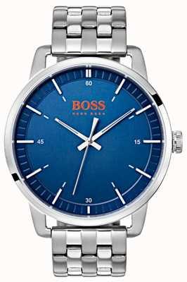 Hugo Boss Orange Bracciale da uomo in acciaio inossidabile con quadrante blu da uomo 1550076
