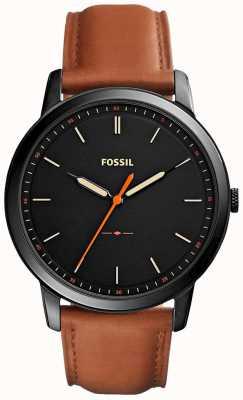 Fossil Mens il cinturino in pelle 3h minimalista FS5305