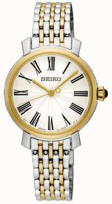 Seiko Bracciale in oro giallo con numeri romani in oro SRZ496P1