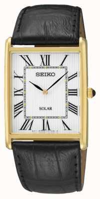 Seiko Quadrante maschile con numeri romani cassa in oro SUP880P1