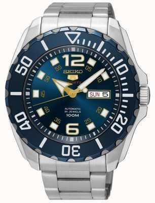Seiko Orologio sportivo da uomo e da giorno con quadrante blu in acciaio inossidabile SRPB37K1
