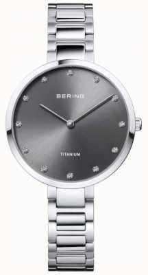 Bering Cassa e bracciale in titanio con montatura in cristallo 11334-772