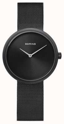 Bering Cinturino in maglia nera nera opaca 14333-222