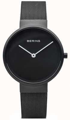 Bering Bracciale in rete nera con rivestimento nero opaco nero opaco 14531-122