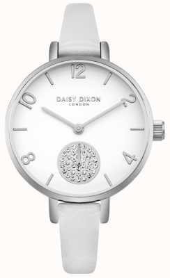 Daisy Dixon Cinturino sottosquadri in pelle bianca per donna DD075WS