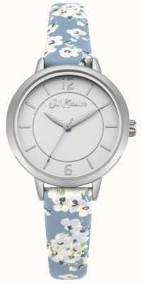 Cath Kidston Cinturino in pelle stampa floreale donna argento acciaio inox CKL046US