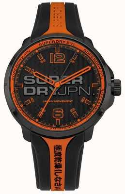 Superdry Cinturino in silicone kyoto arancione e nero da uomo SYG216BO