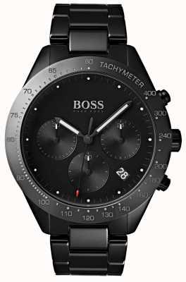 Hugo Boss Bracciale da uomo con quadrante nero con quadrante nero 1513581