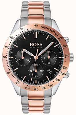 Boss Talento maschile | cinturino in acciaio inossidabile oro rosa e argento | 1513584