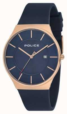 Police Cinturino in silicone per orologio orizzonte nuovo uomo blu 15045JBCR/03P
