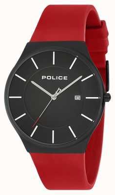 Police Cinturino in silicone per orologio orizzonte nuovo uomo rosso 15045JBCB/02PB