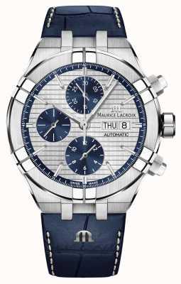 Maurice Lacroix Orologio da polso automatico cinturino in crono blu Aikon AI6038-SS001-131-1