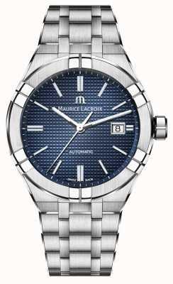 Maurice Lacroix Orologio automatico quadrante blu acciaio Aikon AI6008-SS002-430-1