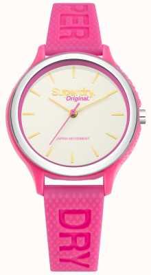 Superdry Cinturino in silicone rosa Sapporo fluoro pop SYL151P