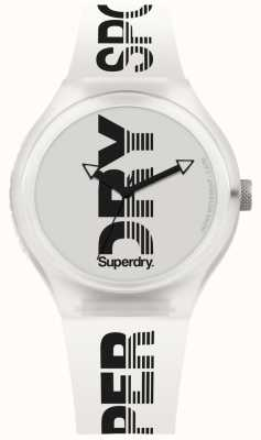 Superdry Cinturino in silicone bianco sportivo xl urbano SYG189W