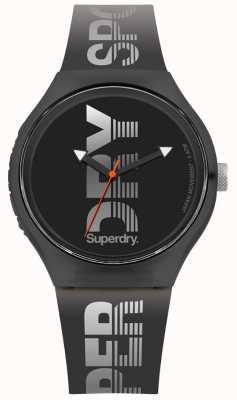 Superdry Cinturino in silicone nero sportivo xl urbano SYG189B