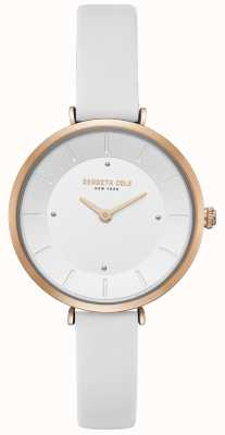 Kenneth Cole Orologio da donna in oro bianco con cassa in oro rosa con diamanti KC50306004