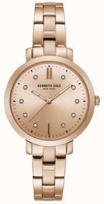 Kenneth Cole Orologio da donna in oro rosa con cassa in oro rosa con diamanti KC15173005