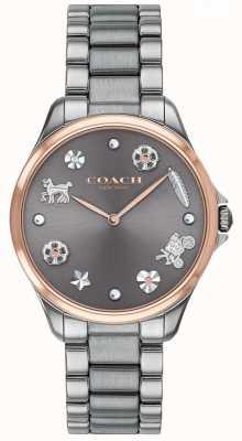 Coach Moderna sport quadrante grigio acciaio inox canna di fucile ip 14503064