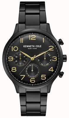 Kenneth Cole Orologio cronografo da uomo in pvd nero KC15185001