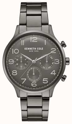 Kenneth Cole Orologio da uomo con cronografo in pvd color canna di fucile KC15185002