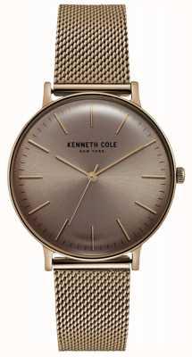 Kenneth Cole Orologio in maglia oro rosa tono oro KC15183002